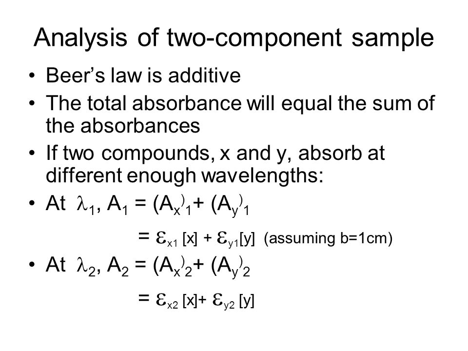 Analysis of two-component sample