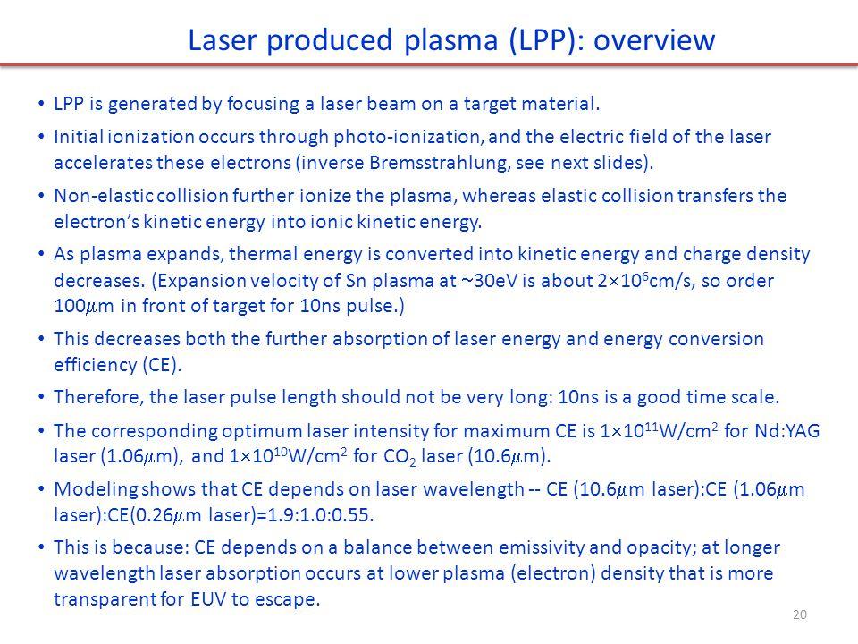 Laser produced plasma (LPP): overview