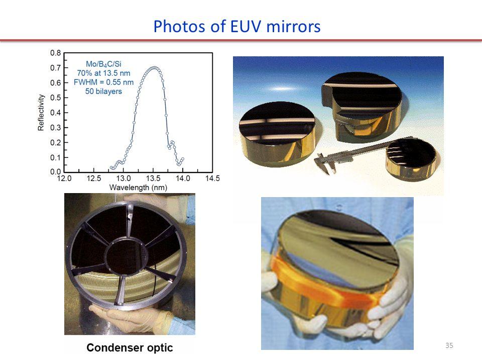 Photos of EUV mirrors