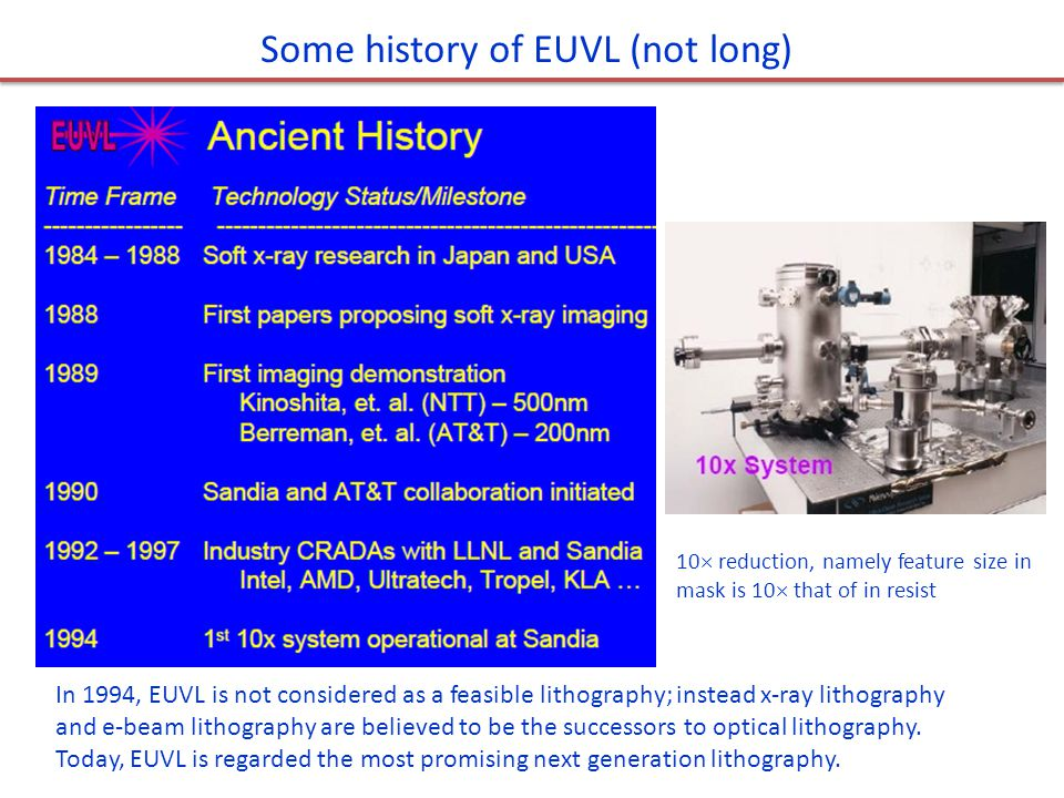 Some history of EUVL (not long)