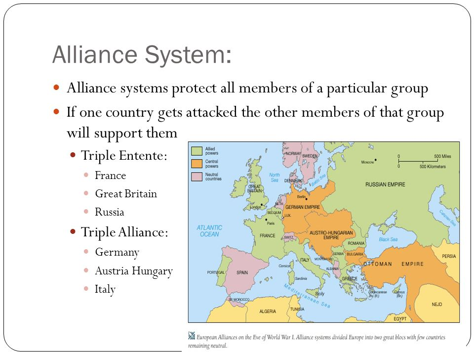 Alliance System: Alliance systems protect all members of a particular group.