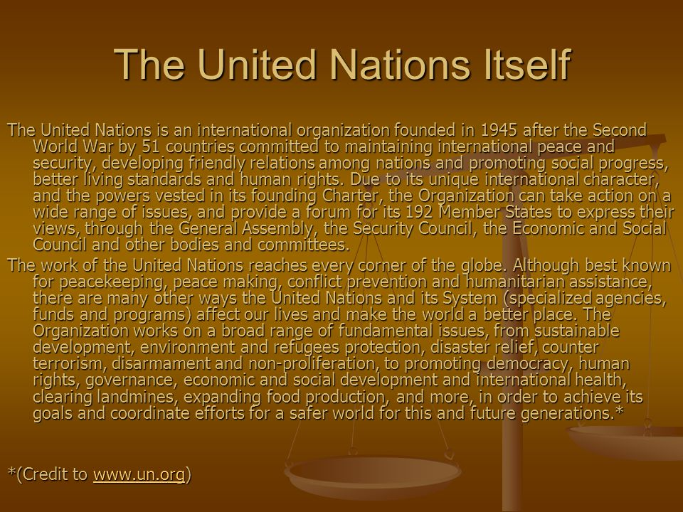 The United Nations Itself