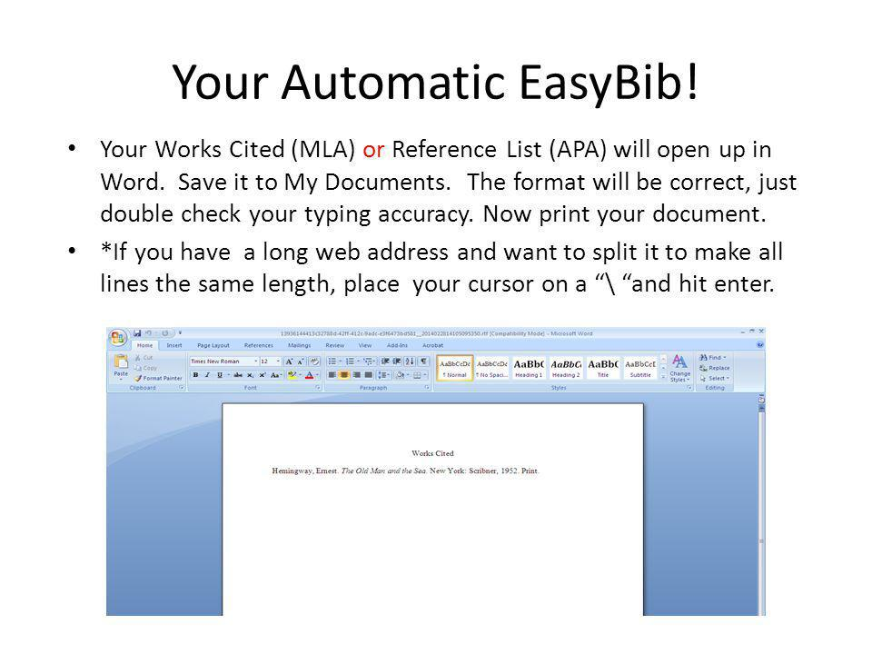 Your Automatic EasyBib!