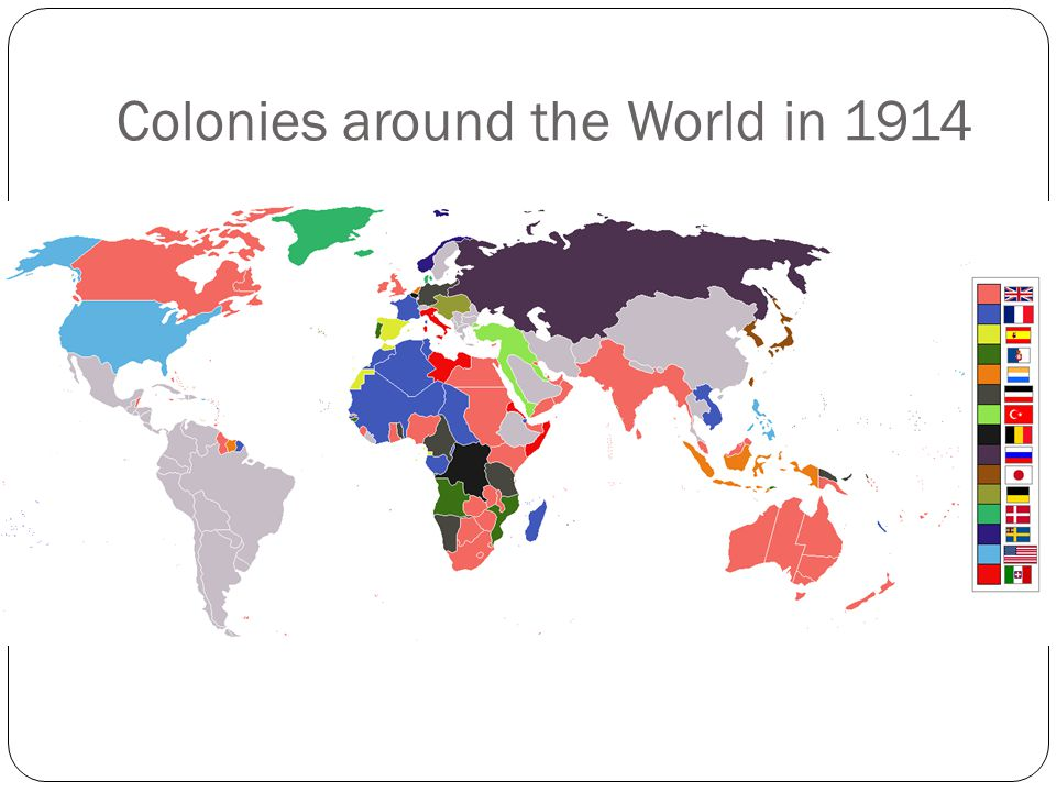 Colonies around the World in 1914