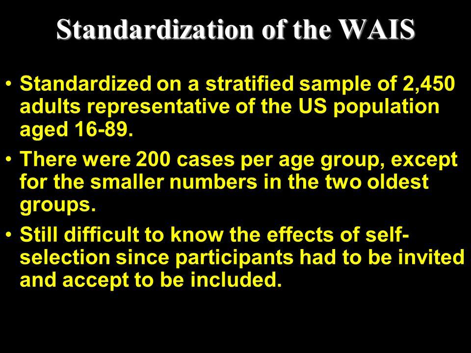 Standardization of the WAIS