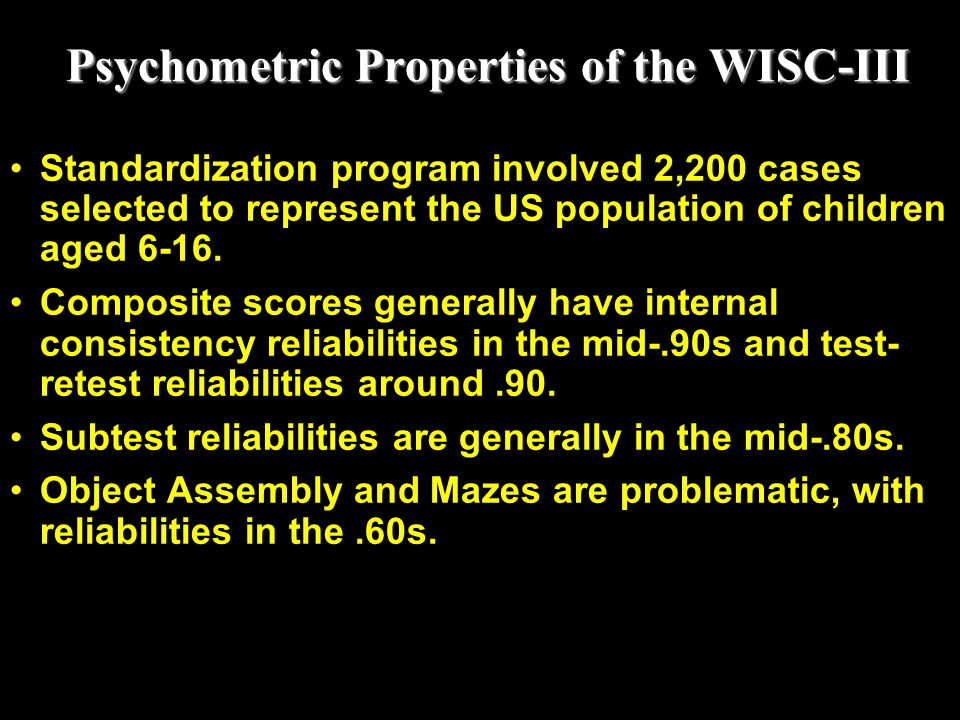 Psychometric Properties of the WISC-III