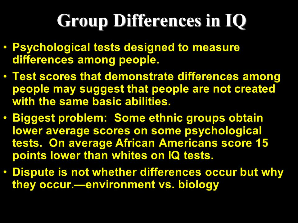 Group Differences in IQ