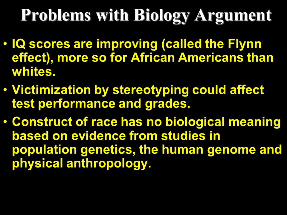 Problems with Biology Argument