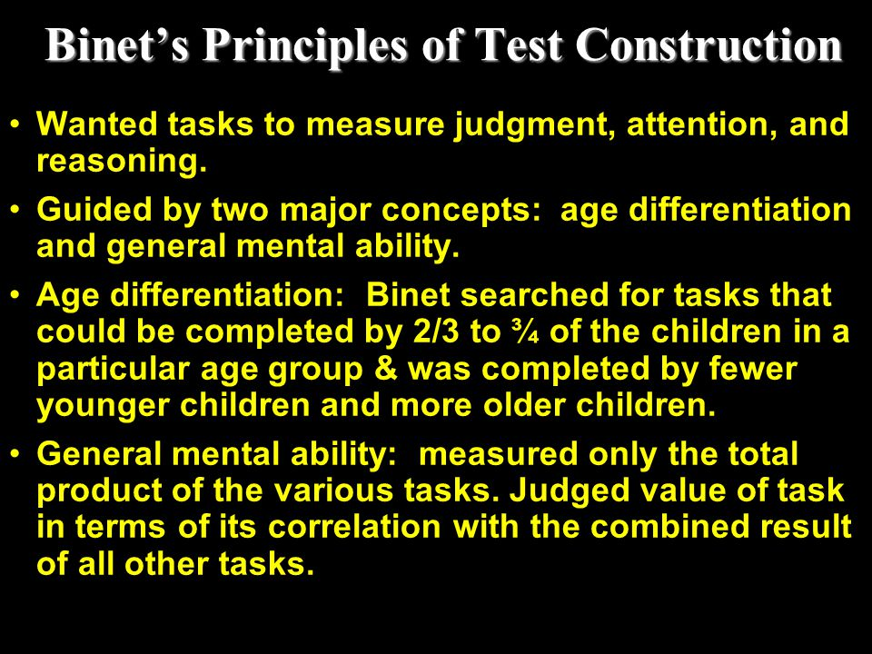 Binet's Principles of Test Construction
