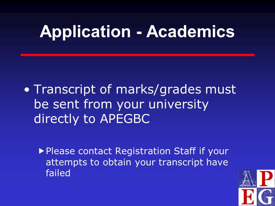 Application - Academics