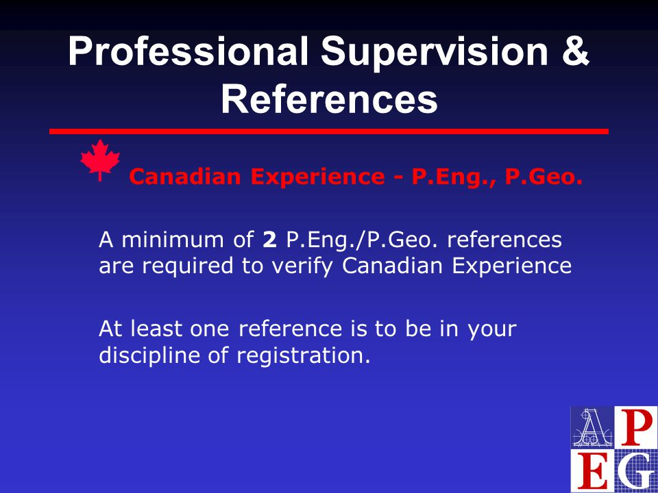 Professional Supervision & References