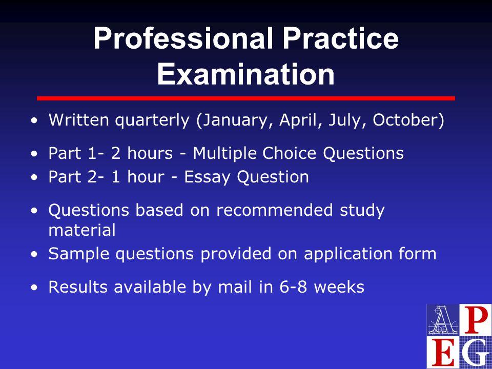 Professional Practice Examination