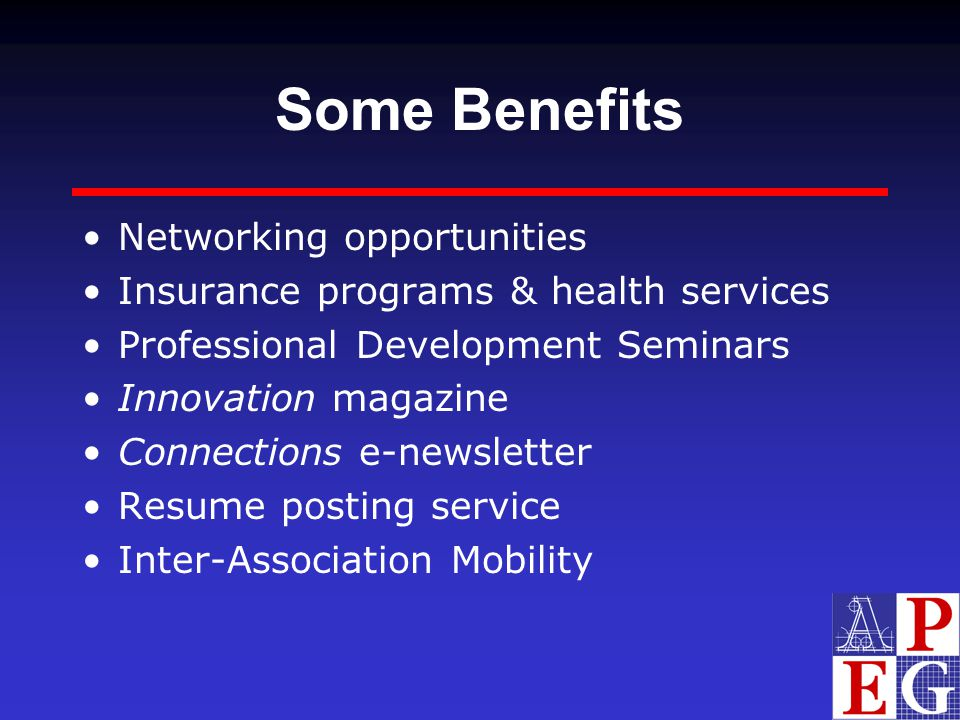 Some Benefits Networking opportunities