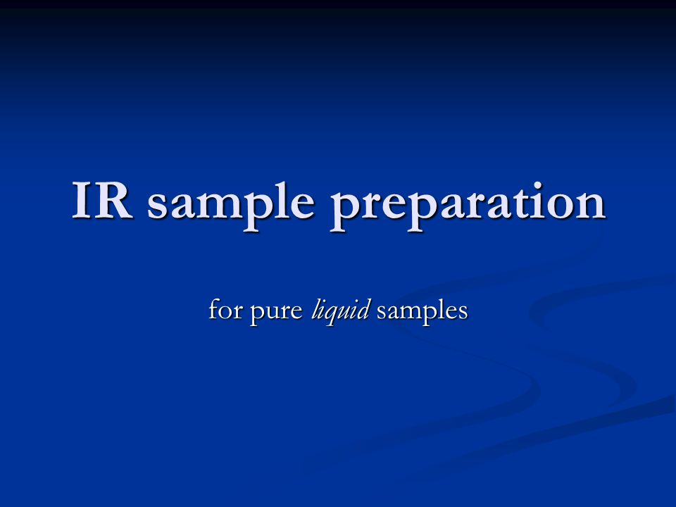for pure liquid samples