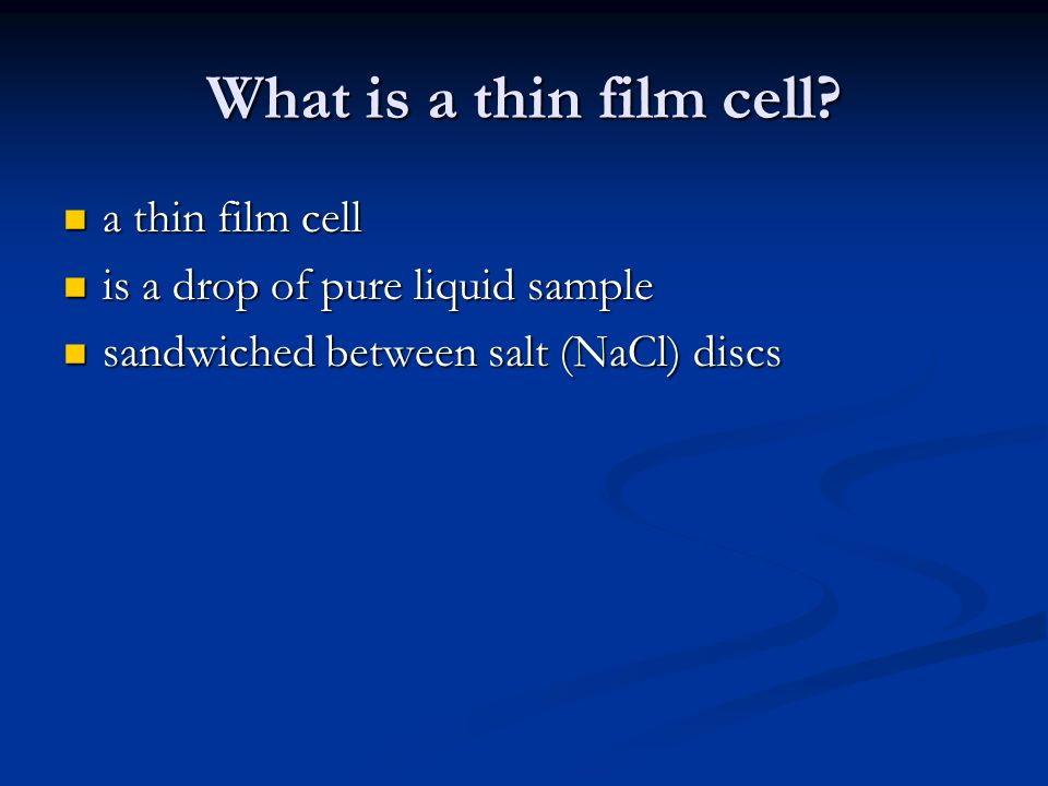 What is a thin film cell a thin film cell