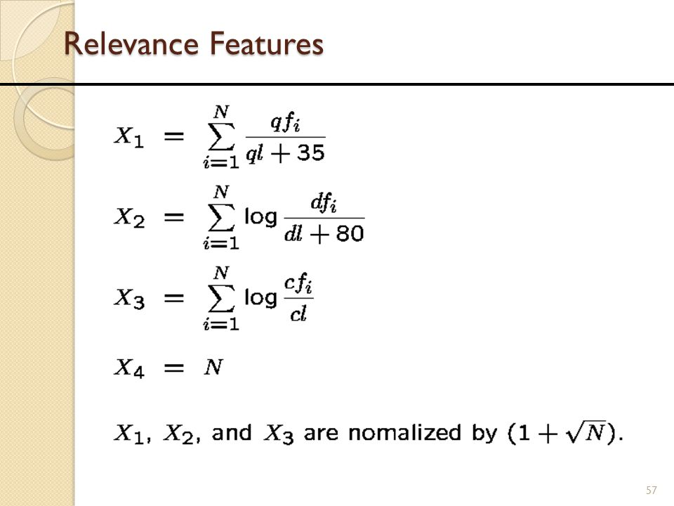 Relevance Features