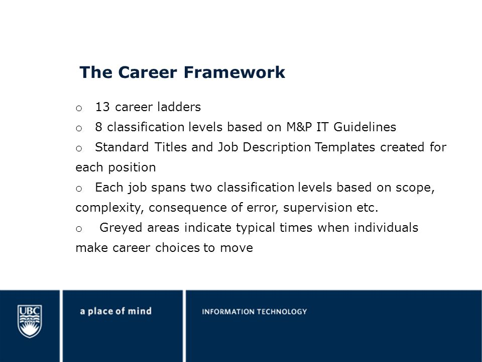 The Career Framework 13 career ladders