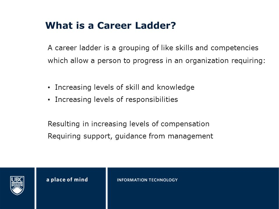 What is a Career Ladder