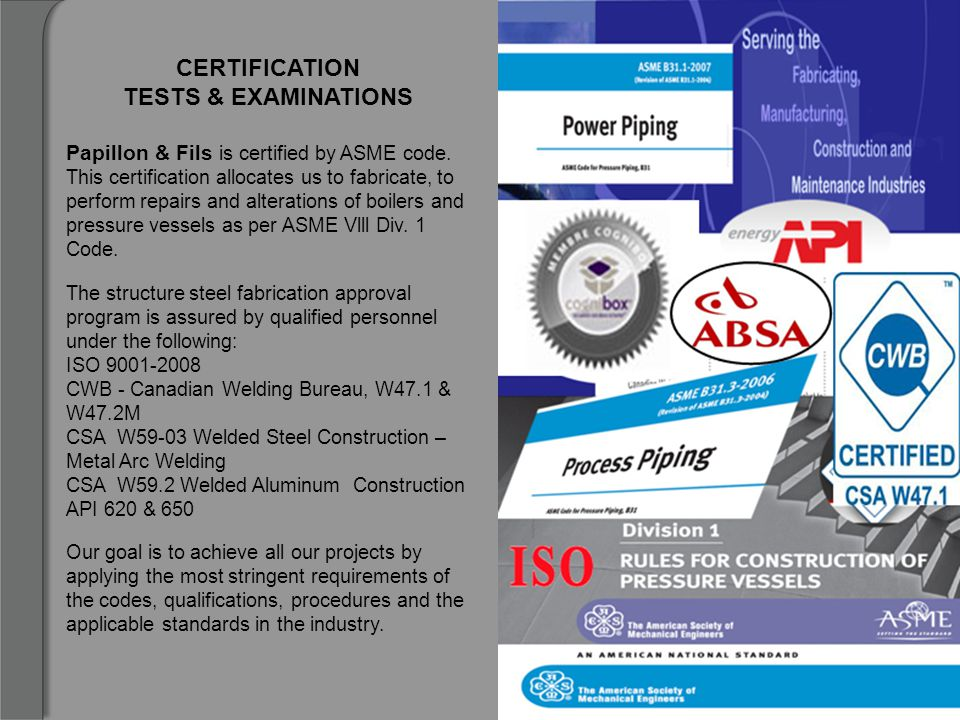 CERTIFICATION TESTS & EXAMINATIONS