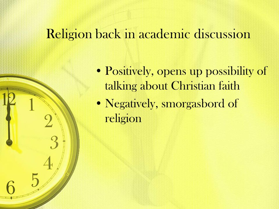 Religion back in academic discussion