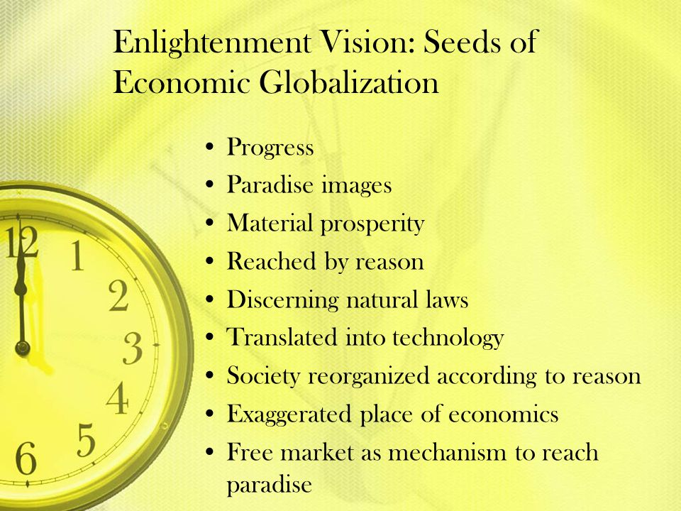 Enlightenment Vision: Seeds of Economic Globalization
