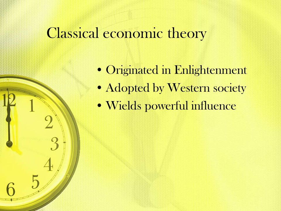 Classical economic theory