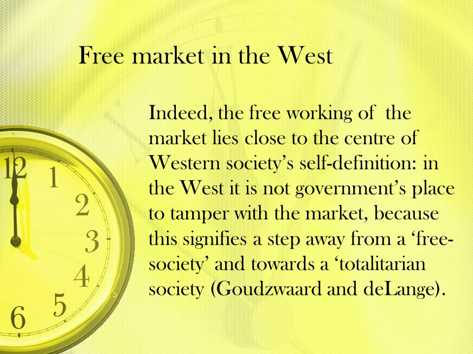 Free market in the West