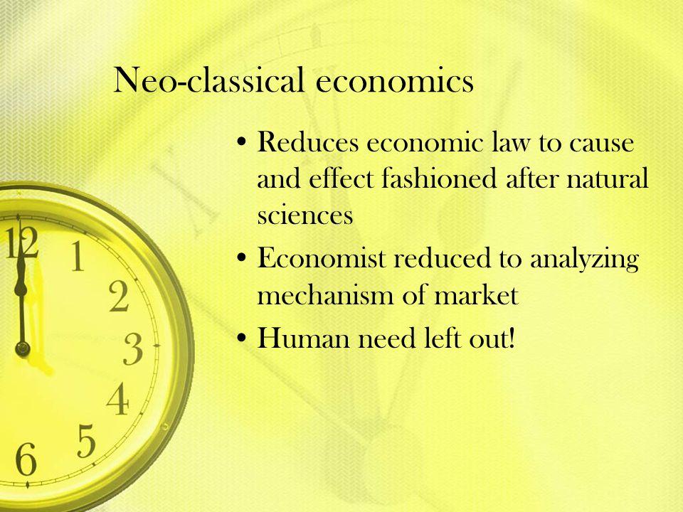 Neo-classical economics
