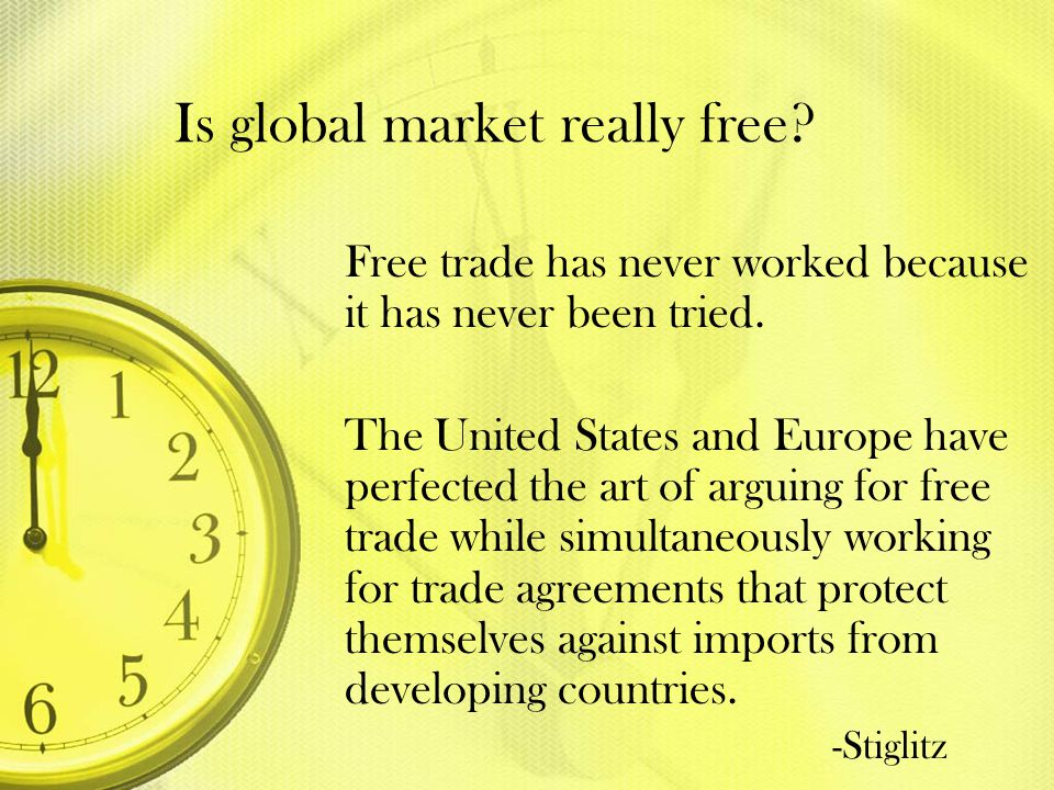 Is global market really free