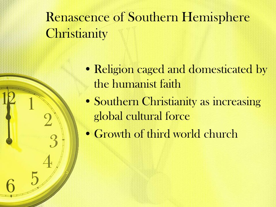 Renascence of Southern Hemisphere Christianity