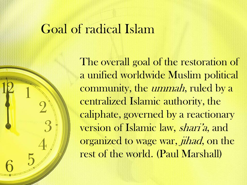 Goal of radical Islam