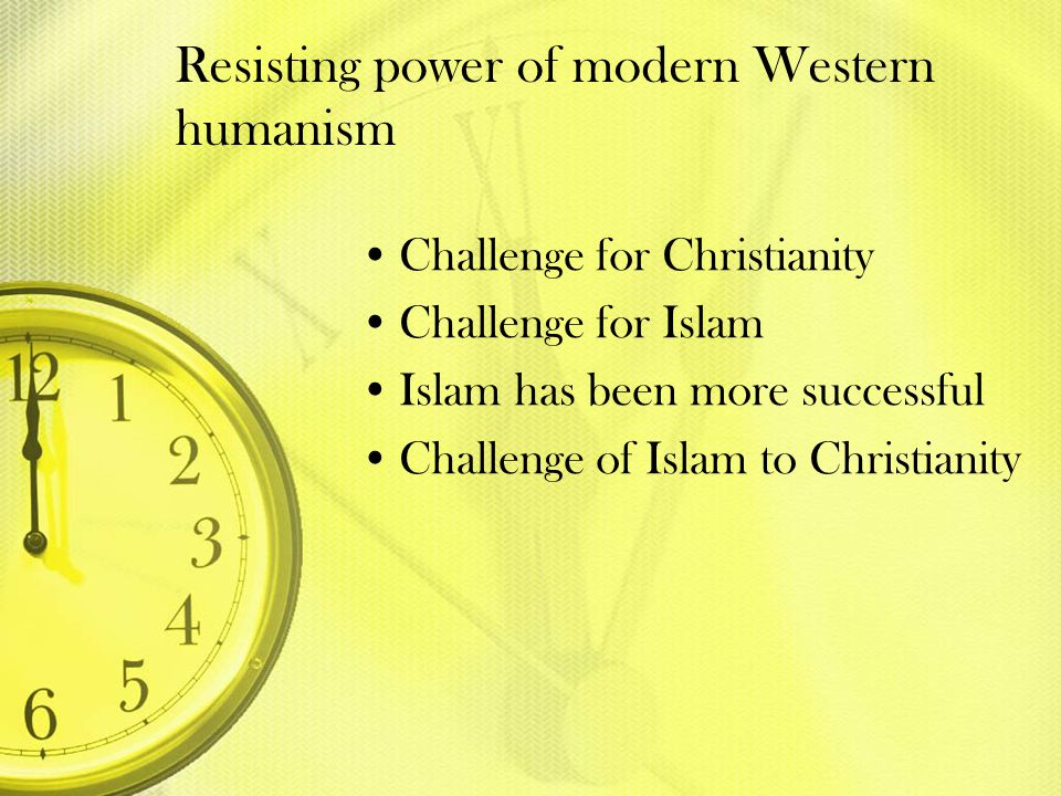 Resisting power of modern Western humanism