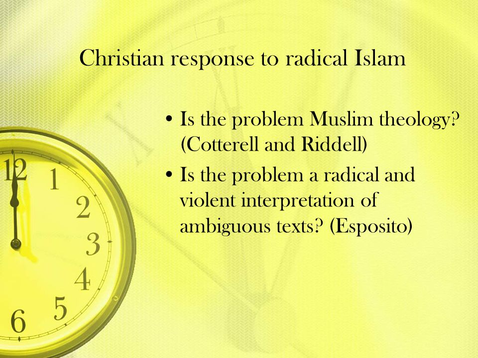 Christian response to radical Islam