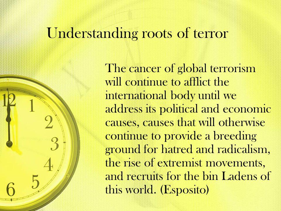 Understanding roots of terror