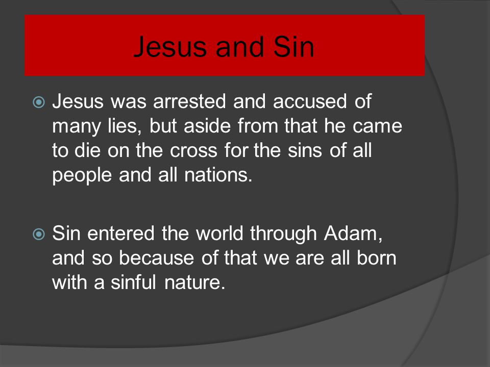 Jesus and Sin