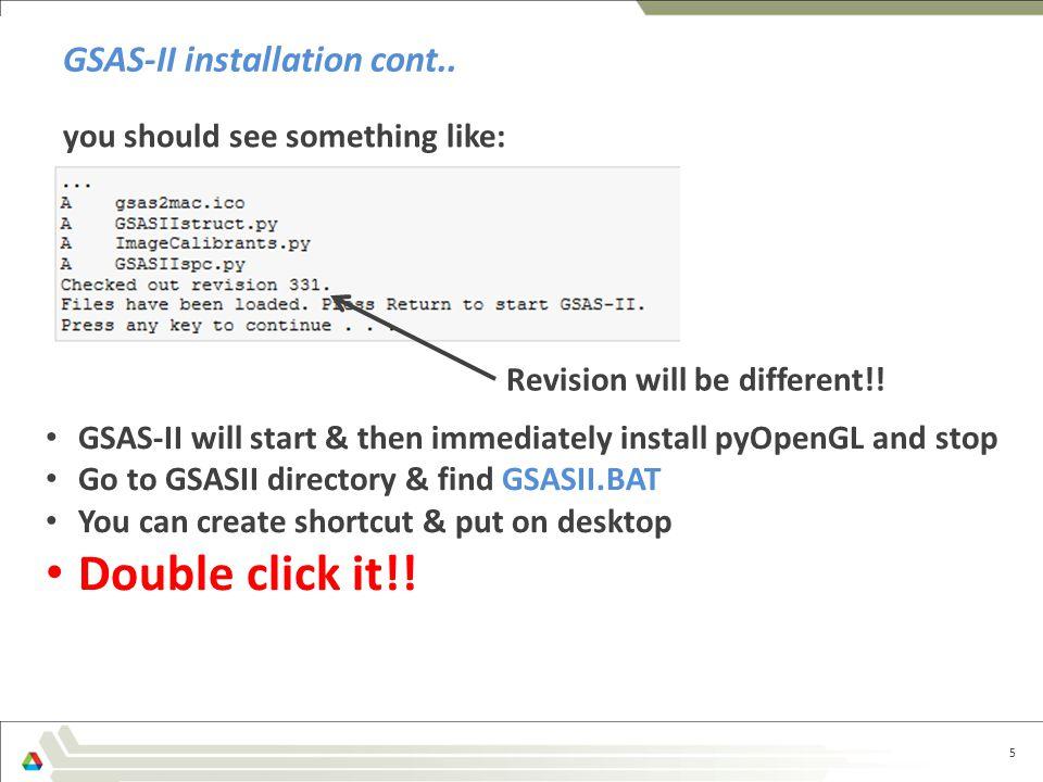 GSAS-II installation cont..