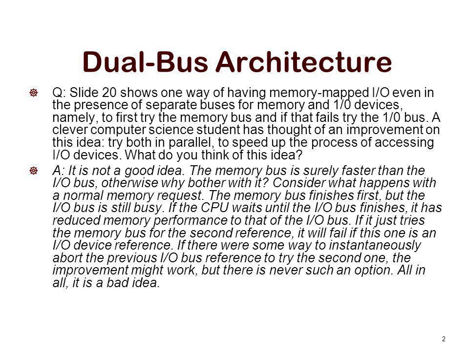 Dual-Bus Architecture
