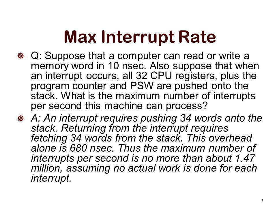 Max Interrupt Rate