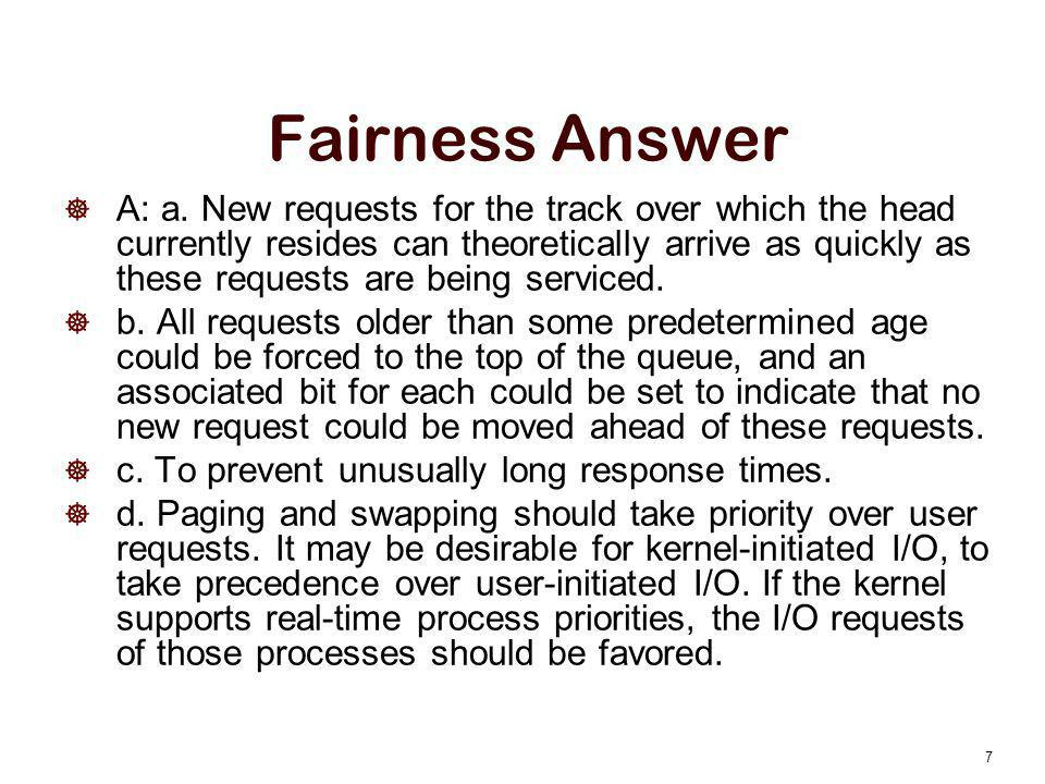 Fairness Answer