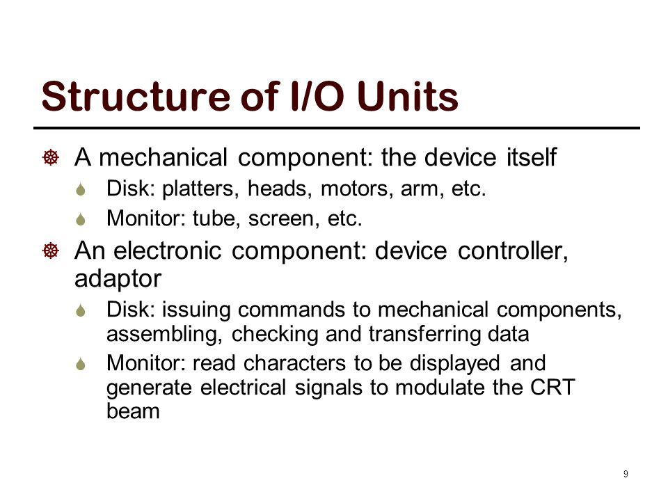 Mechanical / Electronic Components