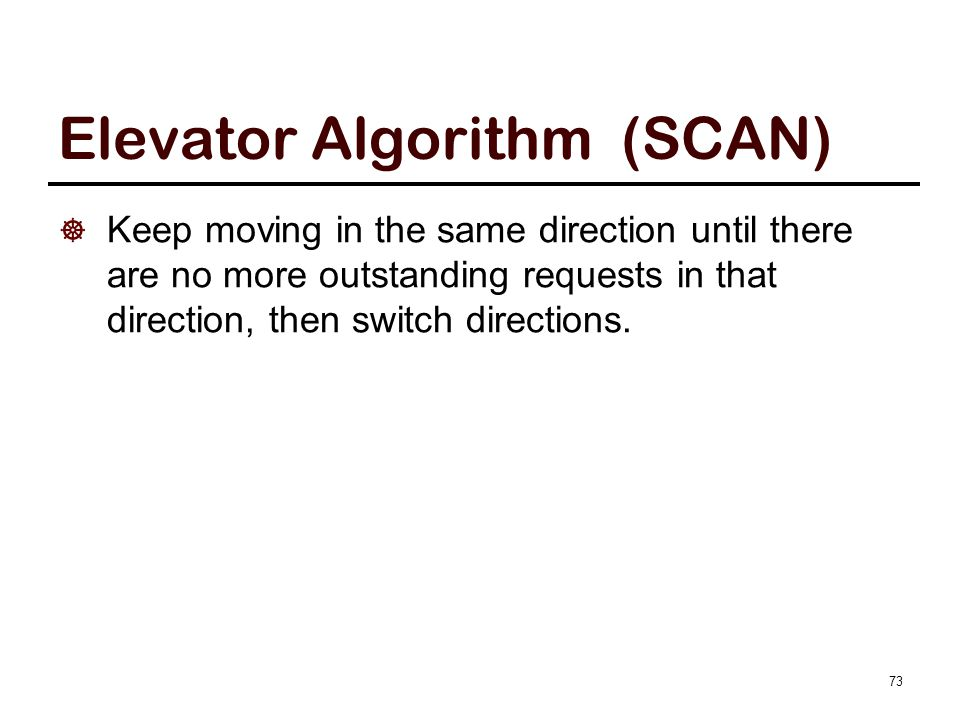 SCAN Algorithm Example
