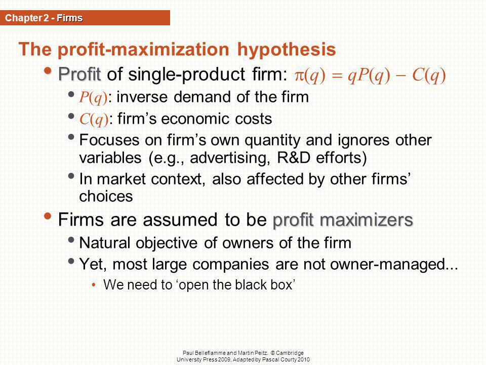 The profit-maximization hypothesis