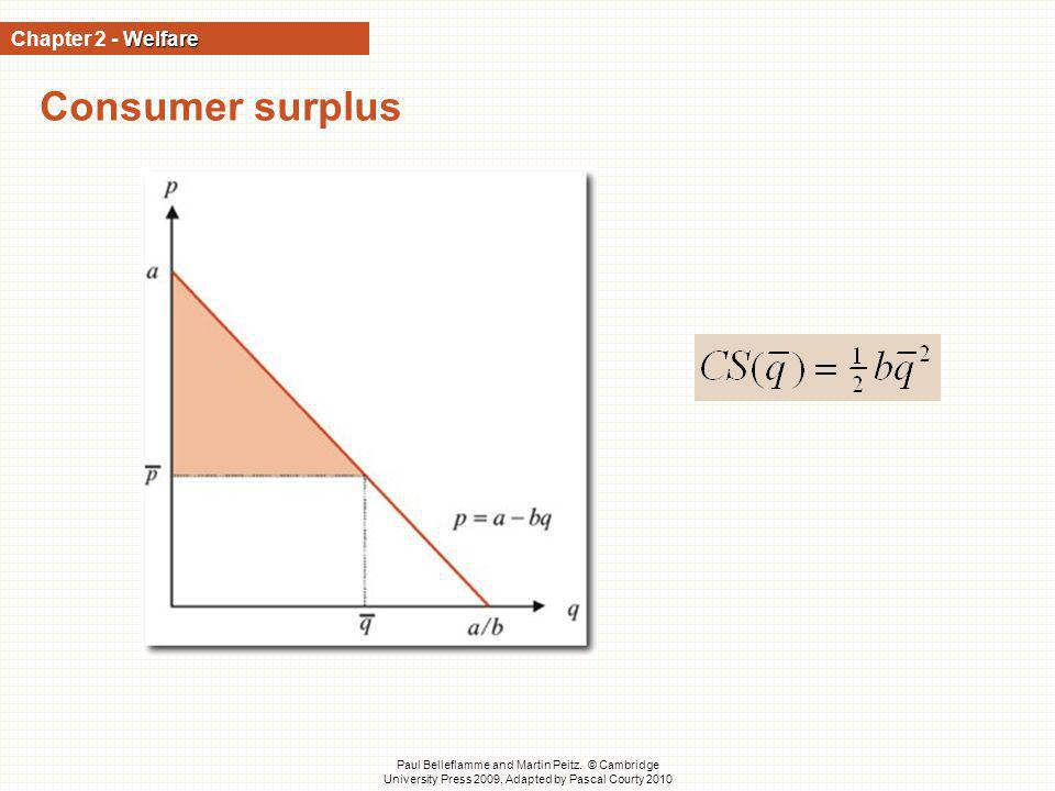 Consumer surplus Chapter 2 - Welfare