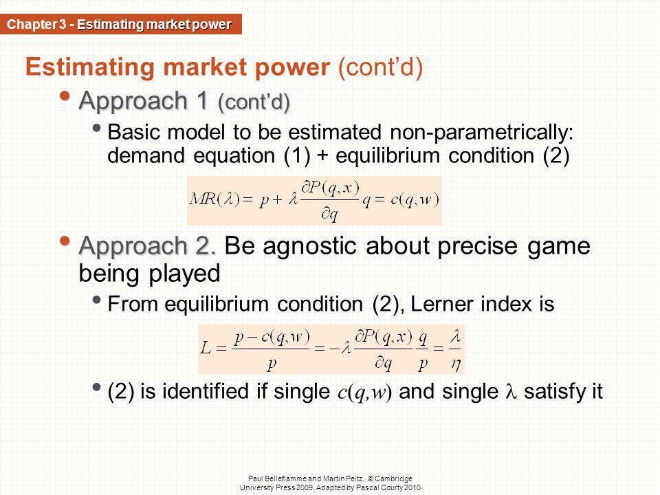 Chapter 3 - Estimating market power