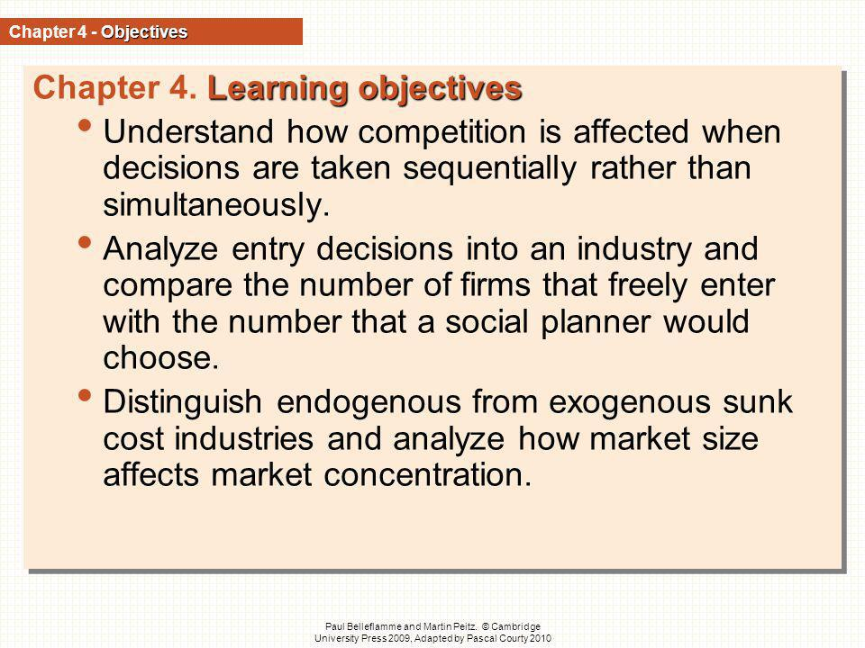 Chapter 4. Learning objectives