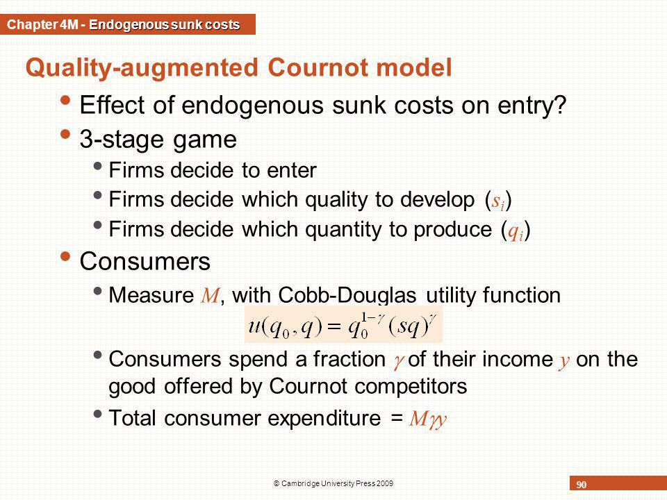 Chapter 4M - Endogenous sunk costs