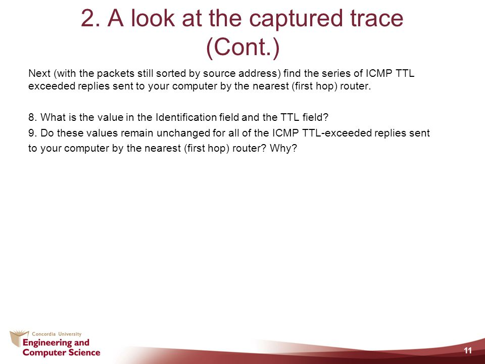2. A look at the captured trace (Cont.)