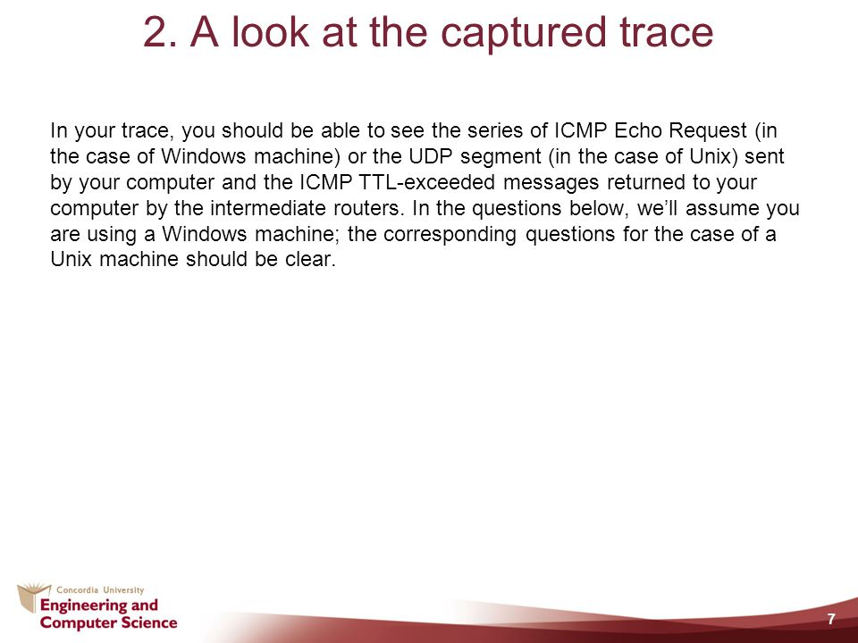 2. A look at the captured trace