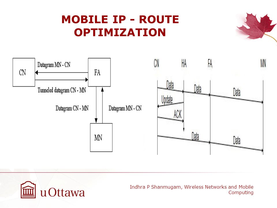MOBILE IP - ROUTE OPTIMIZATION