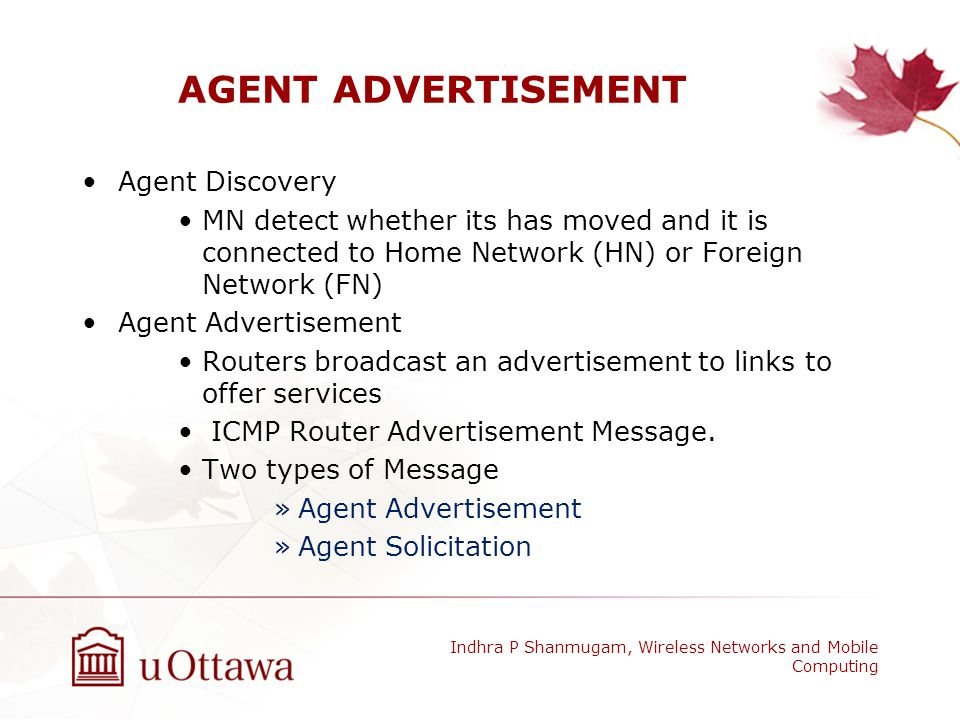 AGENT ADVERTISEMENT Agent Discovery